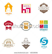 Icon Logo Template Furniture Shop pany Stock Vector