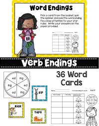ed and ing Word Working Activities | Activities, English language ...