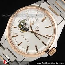 buy seiko presage mechanical skeleton rose gold mens watch seiko presage mechanical skeleton rose gold mens watch ssa160j1 ssa160