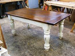Farmers Tables For Kitchen Custom Oak Wood Farmhouse Table By - Rustic farmhouse dining room tables