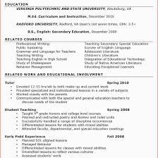 cover letter sample for undergraduates essays funeral protests at   early childhood education resume for study throughout ece