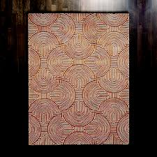 global views arches rust and ivory rectangular 5 ft x 8 ft area