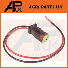 jcb 2 pin plug & cable working light wiring harness work lamp Automotive Wiring Harness image is loading jcb 2 pin plug amp cable working light