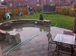 patio drainage problems