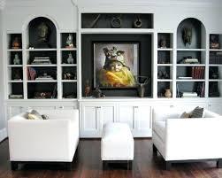 White Units For Living Room