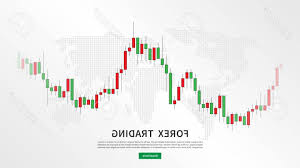 Photostock Vector Stock Market Candlestick Chart With World