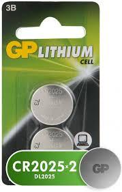 <b>Набор</b> дисковых <b>батареек GP</b> Lithium, 2шт. (CR2025-7CR2 ...