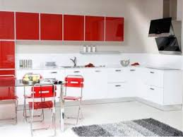 Kitchen Cabinets Red And White Red And White Combination Kitchen Cabinets 20230820170427