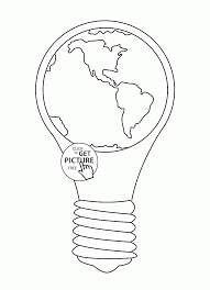 Small Picture Earth Hour Earth Day coloring page for kids coloring pages