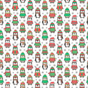 christmas penguin wallpaper.  Penguin Christmas Holiday Winter Penguins In Ugly Sweaters Scarves U0026 Hats On White  Smaller Tiny 1 Inch Penguin Wallpaper E
