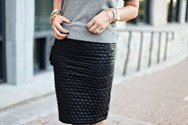 Beautiful, Black Quilted Leathers Skirts & Caitlin Lindquist - A Little Dash of Darling Adamdwight.com