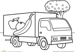 Print, color and enjoy these truck coloring pages! Truck Coloring Pages Printables Education Com
