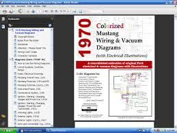 com colorized mustang wiring diagrams ebook screenshot of 1970 colorized wiring and vacuum diagrams