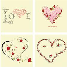 decorative hearts vector