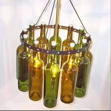 beer bottle chandelier vintage