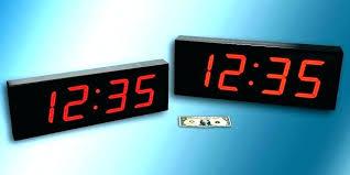 digital wall clock battery operated digital wall clocks led large clock pertaining to battery operated cl digital wall