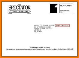 Envelope Format 9 Letter Format Address Envelope Ledger Paper