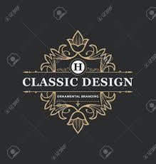 Label Design Templates Calligraphic Label Design Template Classic Ornamental Style