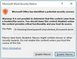 Example Word Documents How To Execute Code In A Microsoft Word Document Without Security