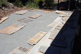 flagstone patio progress