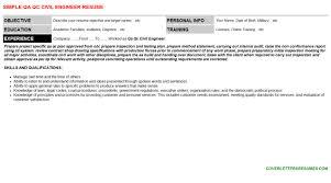 Qa Qc Civil Engineer Job Letter Resume