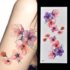 1 шт красивые Diy акварельная орхидея Arm временные татуировки стикеры