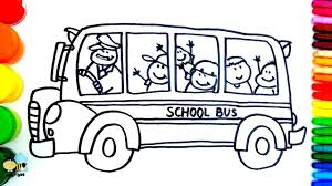 Small Picture How to Draw School Bus Coloring Pages Kids Songs Learn Drawing