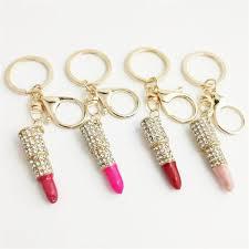 Hot Selling Metal Insert Drill Lip Gloss <b>Lipstick</b> Key Buckle Car ...