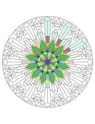 Crystal Star Snowflake Mandala Coloring Page Instant Etsy