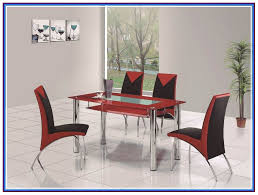 rovigo small glass chrome dining room table and 4 chairs set