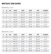 Mares Pioneer 5mm Wetsuit Size Chart Mares Wetsuit Dual 5mm She Dives Women
