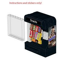 Ebay Snack Vending Machine Delectable 4848 Lego Snack Vending Machine Instructions Stickers Snickers