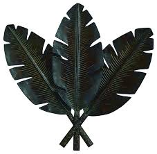 metal palm fronds wall decor set of 3