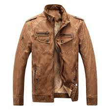 hot brand quality autumn and winter men leather