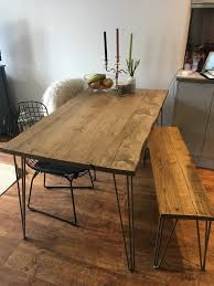 Hairpin dining table Dining Room Image Etsy Reclaimed Dining Table Hairpin Dining Table Rustic Etsy