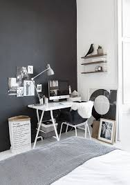 black and white home office. Black And White Home Office / Desk Space.