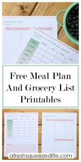 menu planner template free free printable weekly meal planning template a fresh