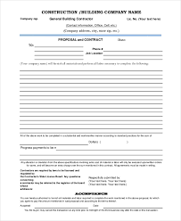 Construction Bid Template Free Microsoft Office Microsoft Word Construction Proposal Template Sample Proposal