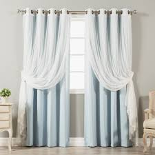 4-piece Sheer Blackout Grommet Top Curtain Panels - Free Shipping Today -  Overstock.com - 18722872