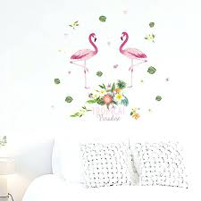 Safari Living Room Decor Best Flamingo Bedroom Decor Flamingo With Flower Wall Stickers For Office