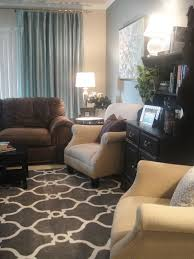 Brown And Blue Living Room Custom This Small Living Room By A Well Dressed Home Is Awesome Modern