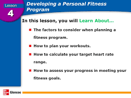 A Fitness Plan Developing A Personal Fitness Program In This Lesson You Will Learn