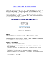 Mechanical Maintenance Resume Sample Ideas Of Mechanical Maintenance Engineer Resume Objective Amazing 13