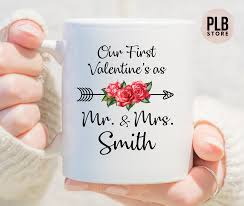 Personalized valentine's day mugs and coffee cups make great and highly practical gifts. Our First Valentines As Mr And Mrs Custom Mugcustom Etsy Valentine Gift For Wife Custom Valentine Personalized Valentines