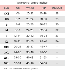 Women S Size Chart Mercari Help Center