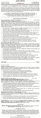 Free Resume Templates Executive Examples Senior It With Regard