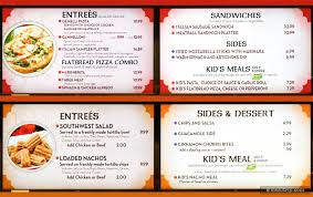 dragon fire grill menu boards for the italian kitchen and southwest cantina food stations
