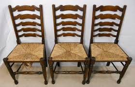 gallery of ladder back chairs with rush seats superhuman oak ladderback carver armchairs sold home interior 22