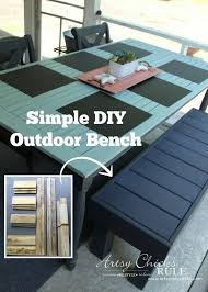 simple diy outdoor bench thrifty project recycled wood