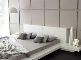 Modern Bedroom Bed Modern Bedroom Furniture Emer White Platform Bed Living It Up